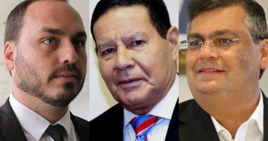 Filho de Bolsonaro critica reunião de Mourão com Flávio Dino e outros governadores da Amazônia Legal